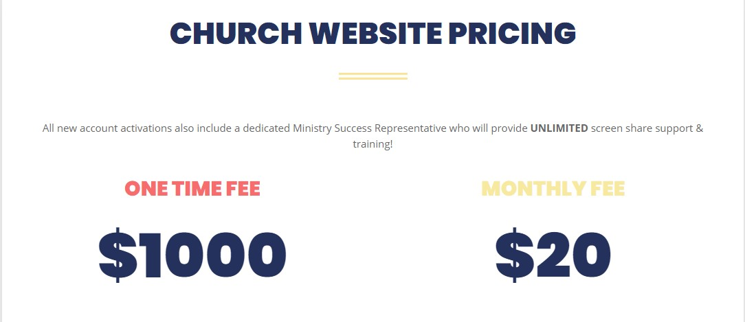 Best Church Website Builder - Ministry Designs Plans
