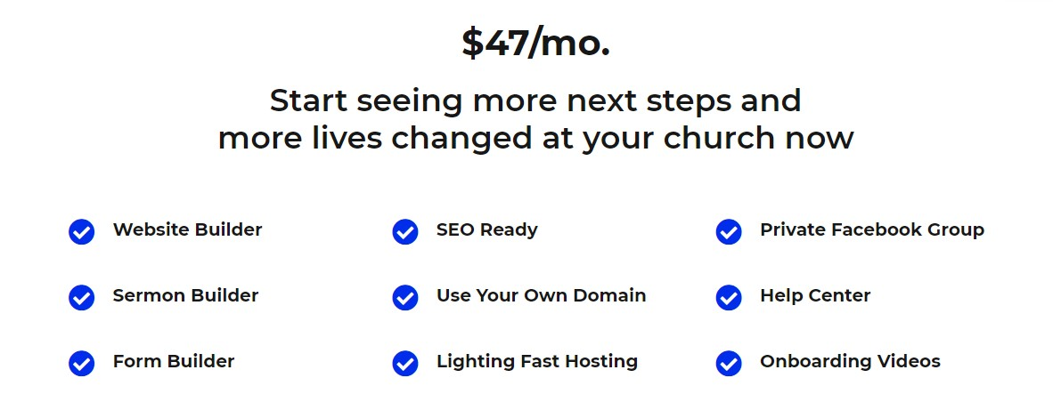 Best Church Website Builder - Mission Plans