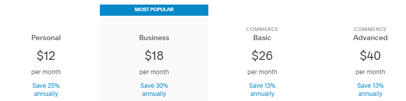 Best Website Builder for Small Business - Sqiaresspace Pricing