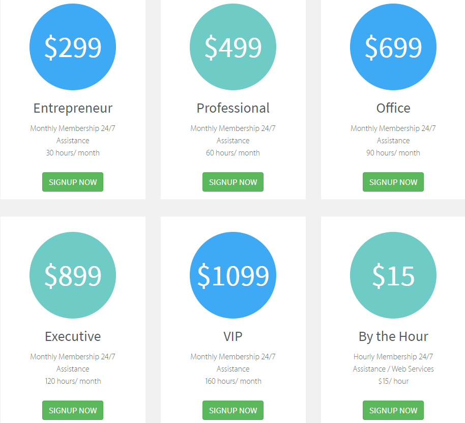 24-7 Virtual Assistant Pricing