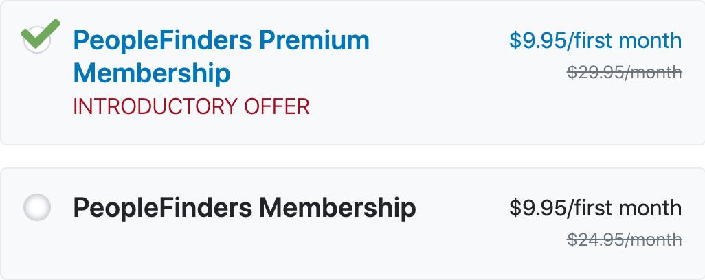 PeopleFinders Pricing