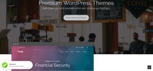 Horizontal Stripe Website Layout